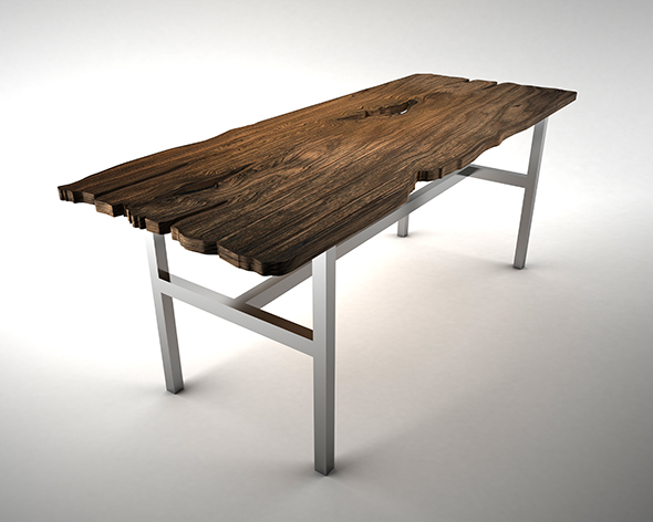 3DOcean Live Edge Wooden Table 19050803