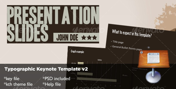 Typography Keynote Template v2 - Creative Keynote Templates