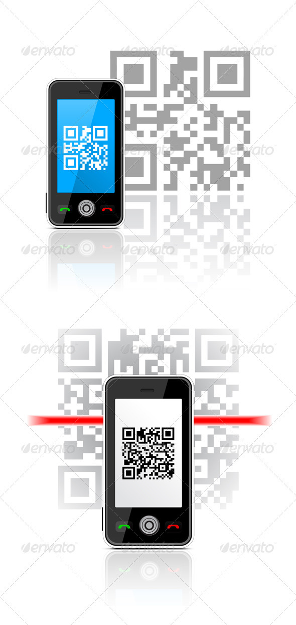 GraphicRiver QR Code Scanning The Smartphone 1873802
