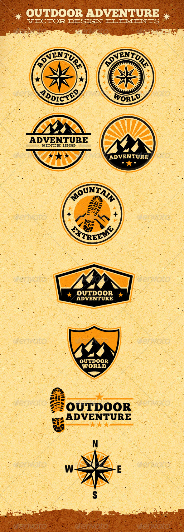 GraphicRiver Outdoor Adventure Vector Design Elements 1873825