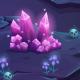Dream Pink Rubies - Vertical Seamless Background