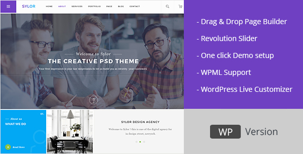 Download Sylor - Minimal Creative Agency WordPress Portfolio nulled download