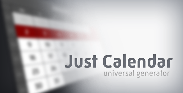 VideoHive Just Calendar Universal Generator 19053550