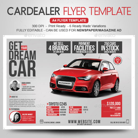 Car Dealer Flyer / Magazine Ad By BloganKids