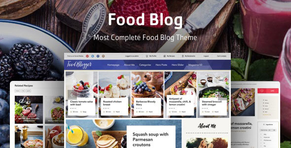 Download Food Blog - WordPress theme for personal food recipe blog nulled download