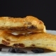 Delicious Homemade Pastry on a Black Background. Seamless Loopable. Prores .