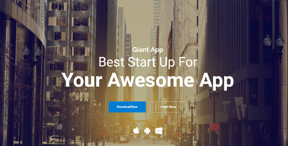 GiantApp - App Landing & Showcase WordPress