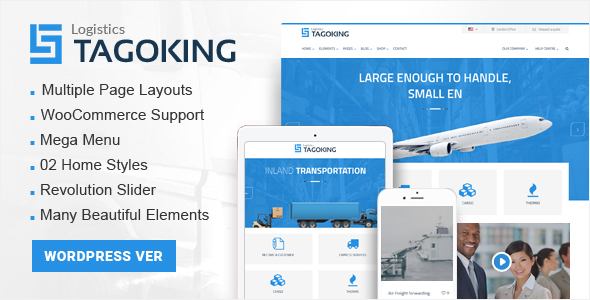 Tagoking - Logistics WordPress theme
