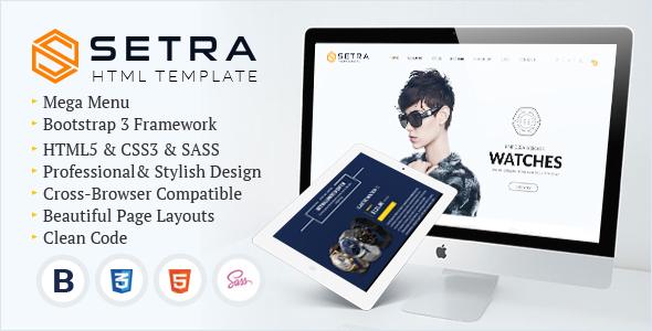 Setra - e-Commerce Website Template