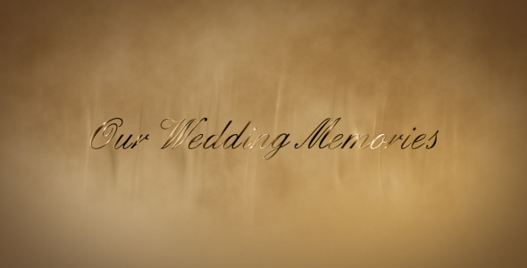 VideoHive Wedding gold words 1874252