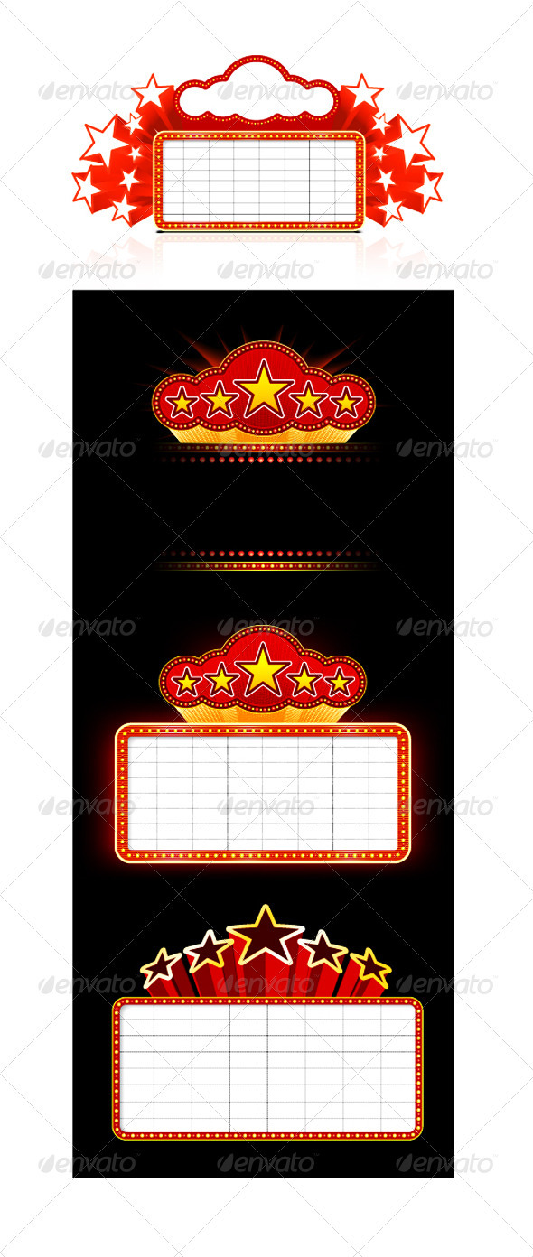 GraphicRiver Showtime Retro Signs Set 1874365