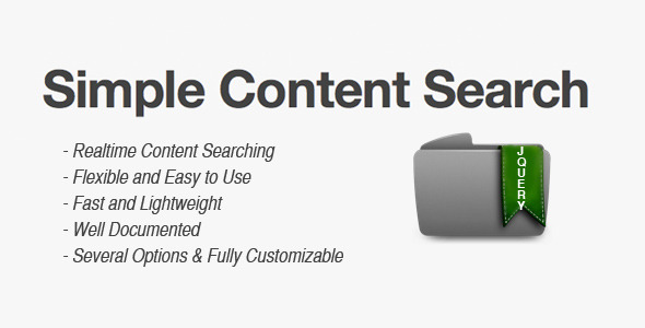CodeCanyon Simple Content Search 1850151