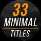 Minimal Titles & Lower Thirds 3