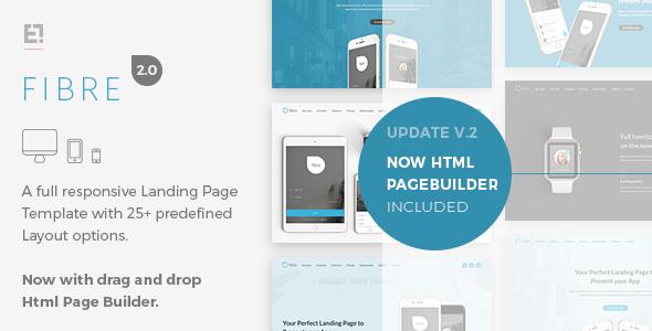 Fibre - App Landing Page