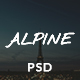 Alpine - Bed and Breakfast Onepage PSD Template