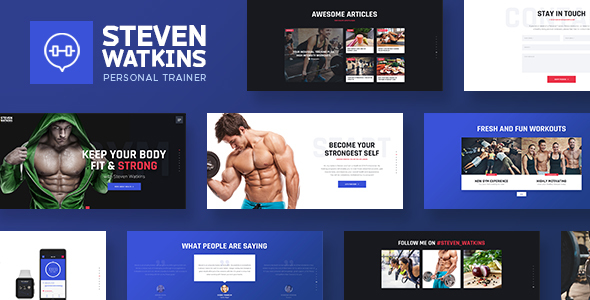 Personal Gym Trainer & Nutrition Coach Theme