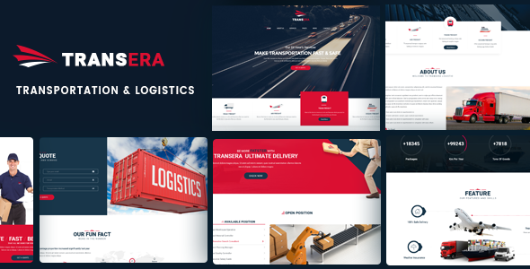 Transera – Transportation &amp Logistics WordPress Theme (Company)
