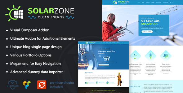 Solar Energy | Clean Energy WordPress Theme