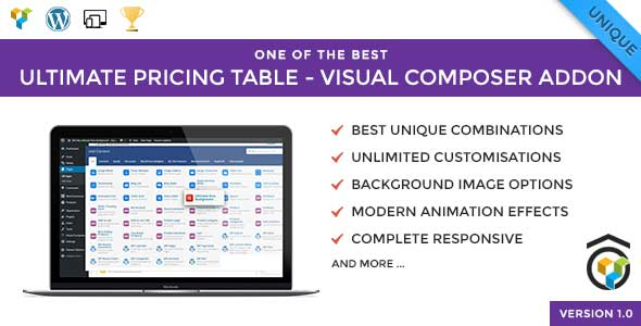 Ultimate Pricing Table – Visual Composer Addon