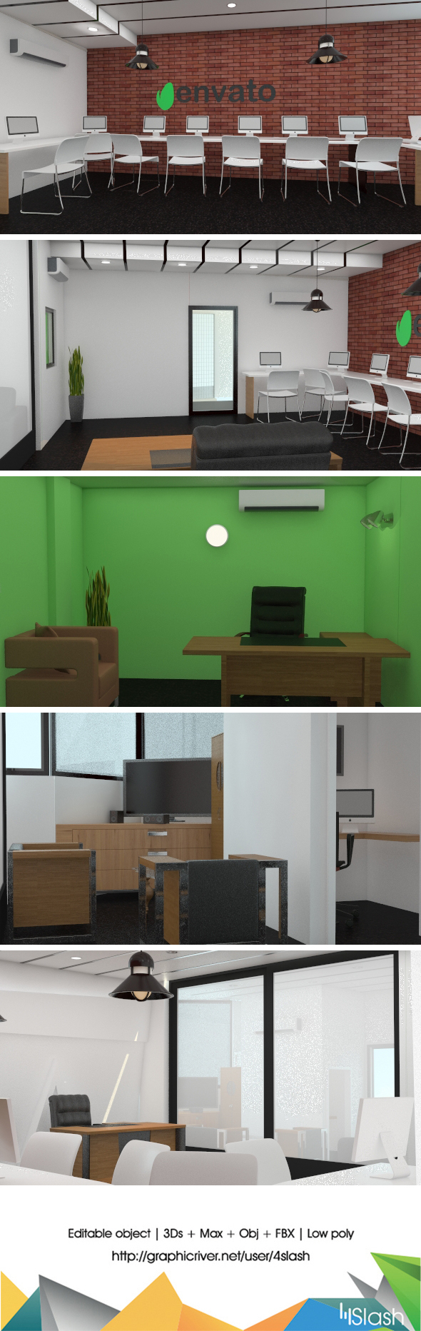 3DOcean 3D Office Interior 19059920