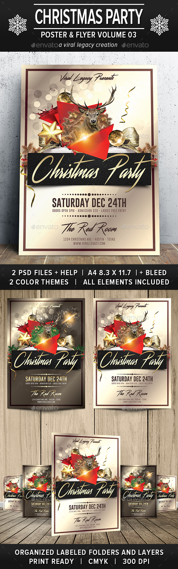 Christmas Party Poster / Flyer V03