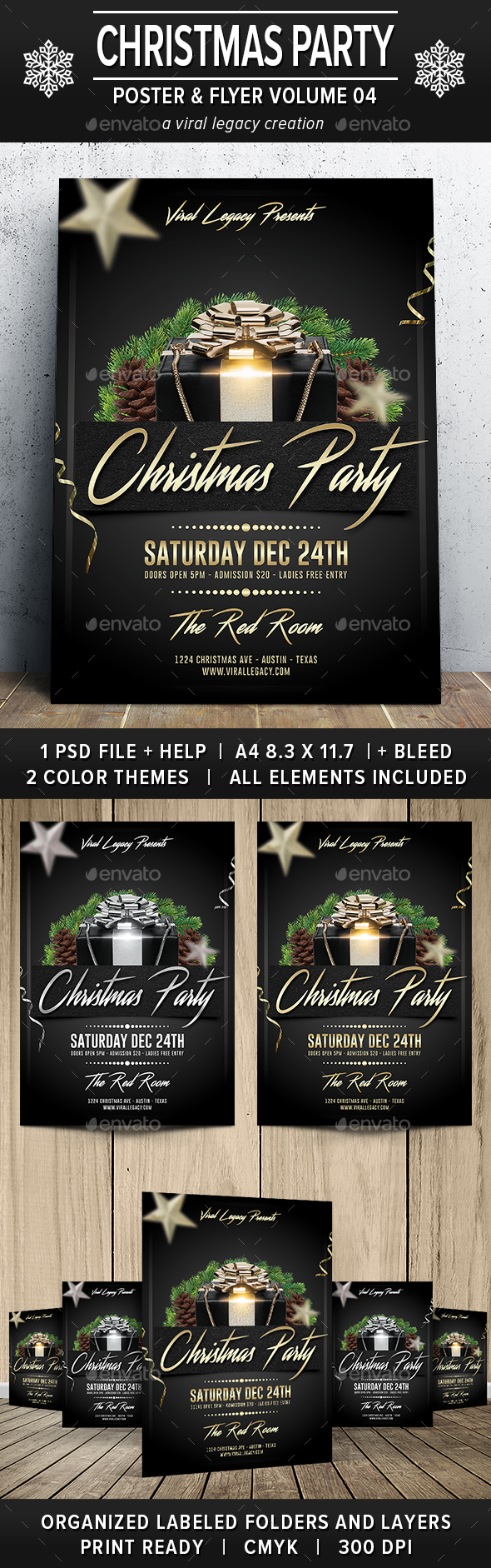 Christmas Party Poster / Flyer V04