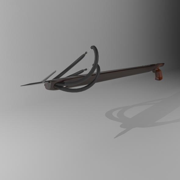 3DOcean Wooden Spear Gun 1868668