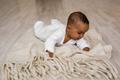 African American Baby Boy Lying