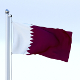 Animated Qatar Flag