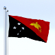 Animated Papua New Guinea Flag