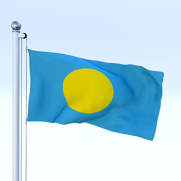 Animated Palau Flag - 3DOcean Item for Sale