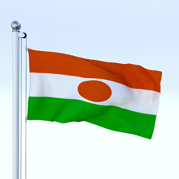 Animated Niger Flag - 3DOcean Item for Sale