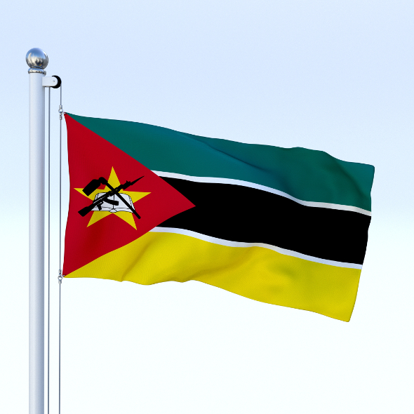 3DOcean Animated Mozambique Flag 19062423