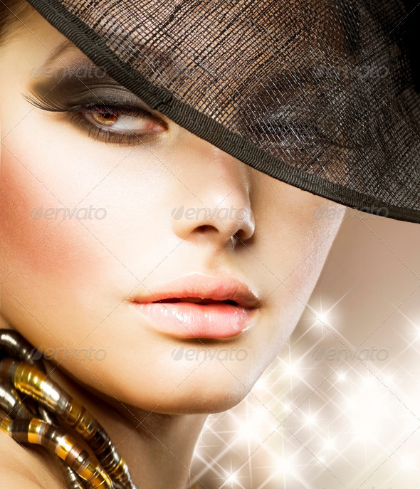 Luxury Glamour Woman.Fashion Art Portrait - Stock Photo - Images