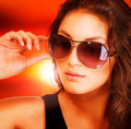 Beautiful Fashion Woman Wearing Sunglasses - PhotoDune Item for Sale