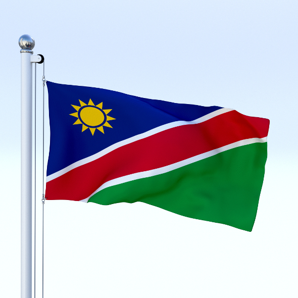 Animated Namibia Flag - 3DOcean Item for Sale