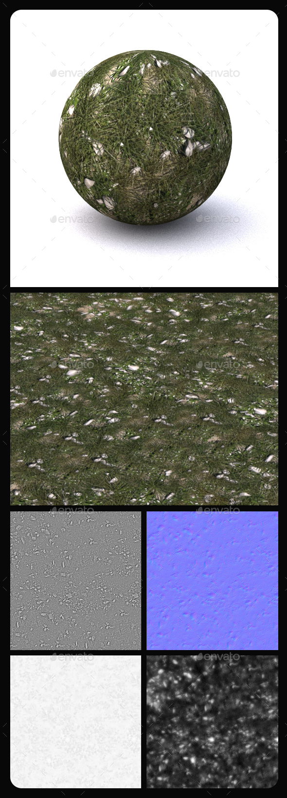 Grass Tile Texture 6 - 3DOcean Item for Sale