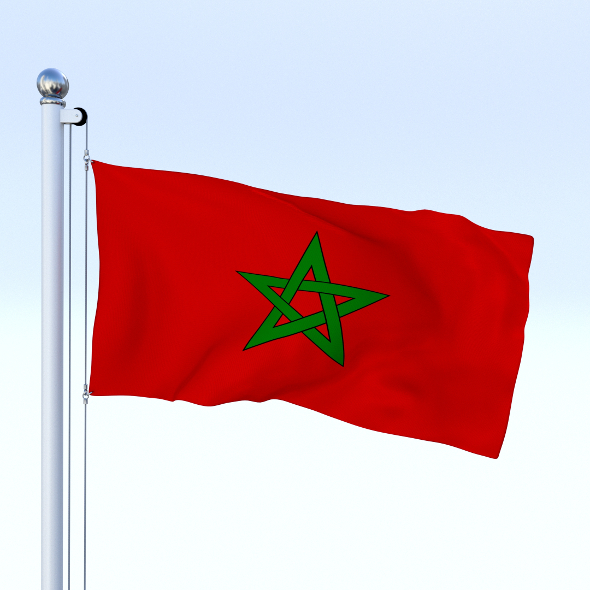 Animated Morocco Flag - 3DOcean Item for Sale