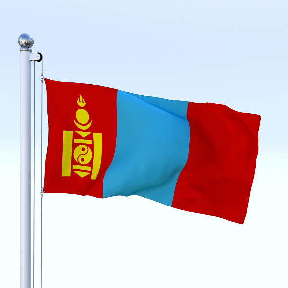 3DOcean Animated Mongolia Flag 19063311