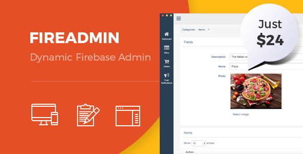 Download FireAdmin - Firebase dynamic admin panel nulled download