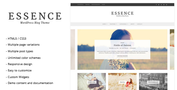 Download Essence - WordPress Blog Theme nulled download