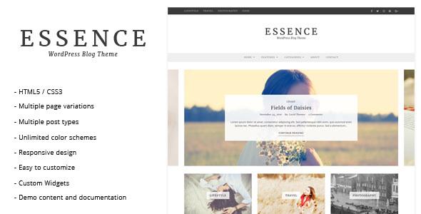 Essence - WordPress Blog Theme
