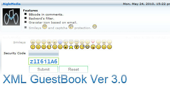 CodeCanyon XML GuestBook 107827