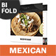 Mexican Restaurant Bifold / Halffold Brochure