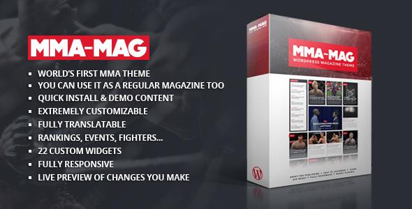 MMA Sports Magazine Theme (Weblog / Magazine)