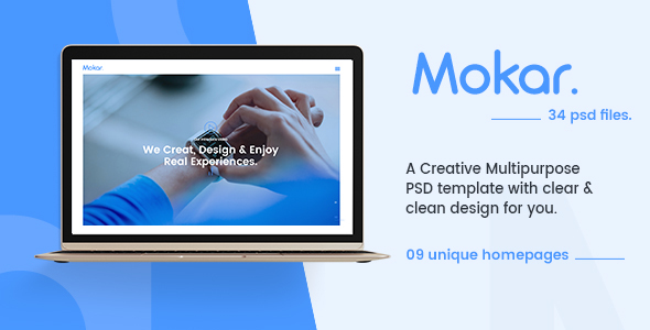 Morka – Contemporary &amp One of a kind Multipurpose PSD Template (Inventive)