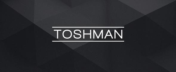 Toshman black logo wide
