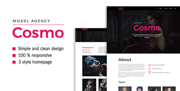 Cosmo — Model Agency HTML5 Template