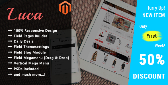 Download Luca - Responsive Magento 2 Theme nulled download