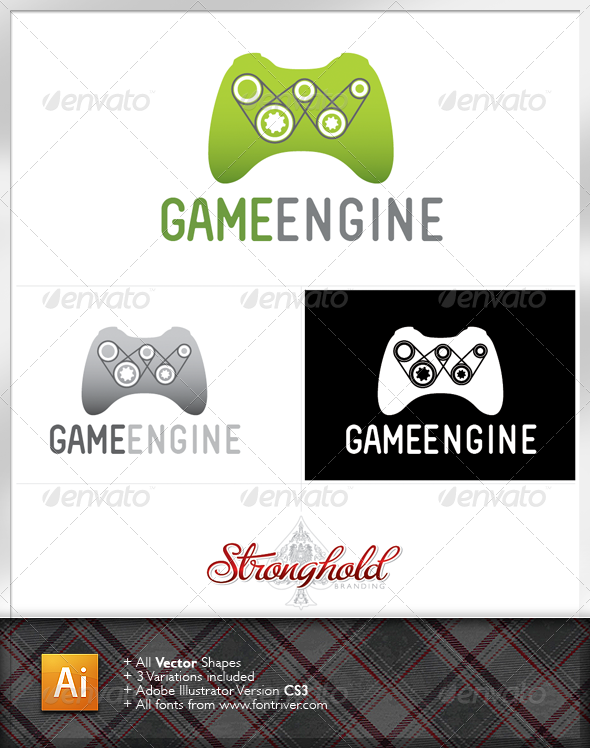 Game Engine Logo Template